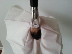 Limpieza brocha de maquillaje